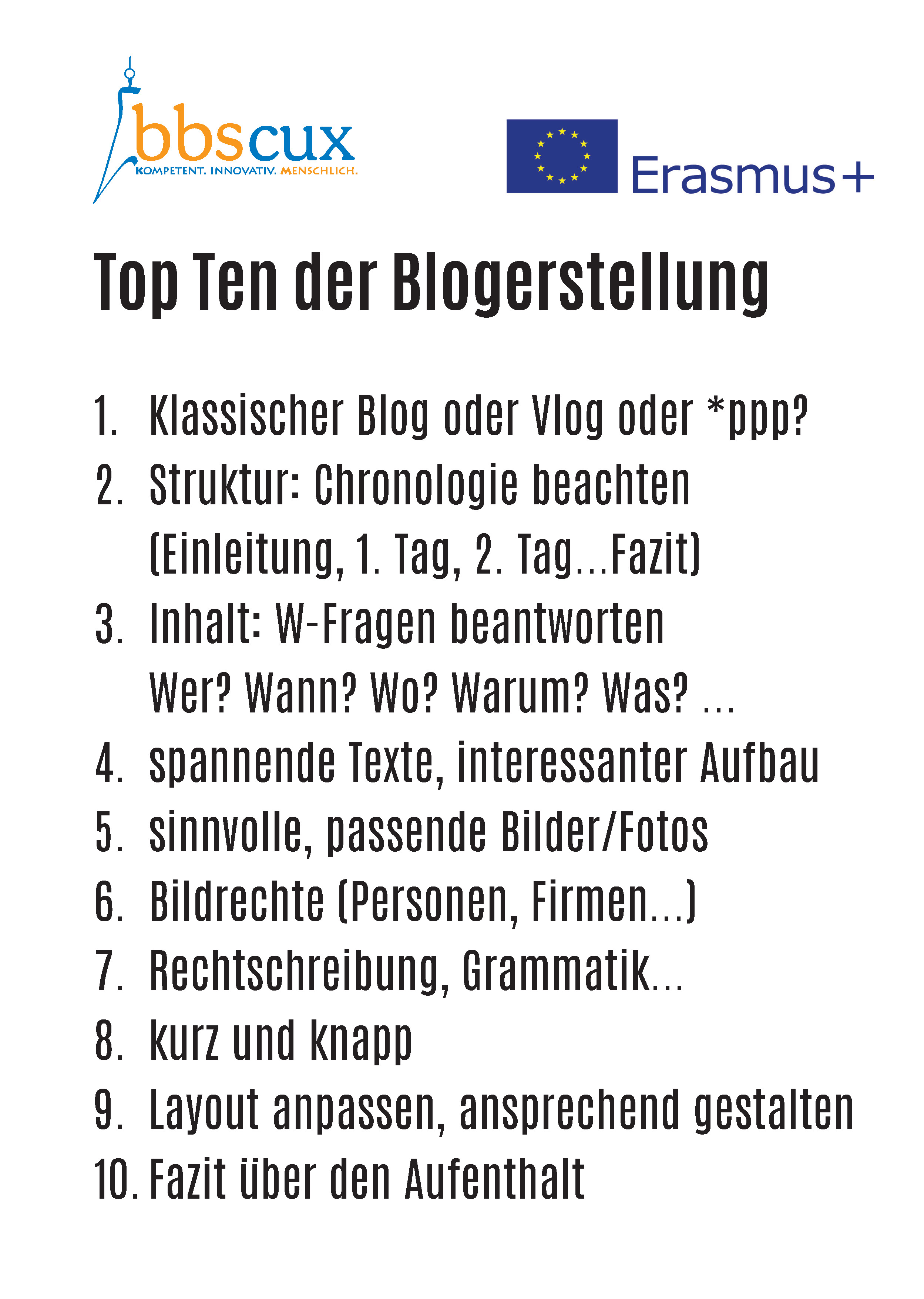 BLOGs Top Ten