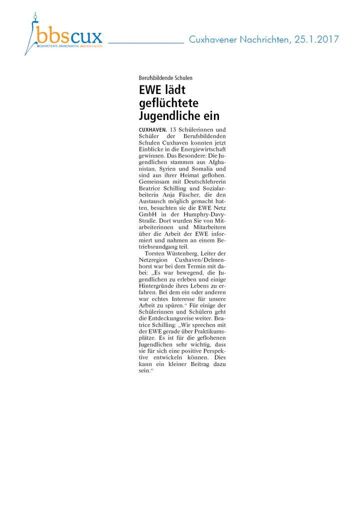 Cuxhavener Nachrichten 25.1.2017